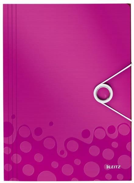4599 Eckspannermappe WOW A4, PP, pink metallic