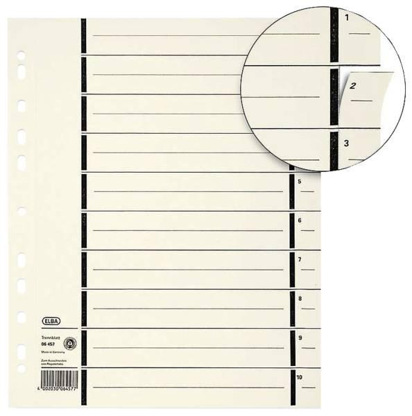 Trennblätter mit Perforation A4 Überbreite, chamois, 100 Stück