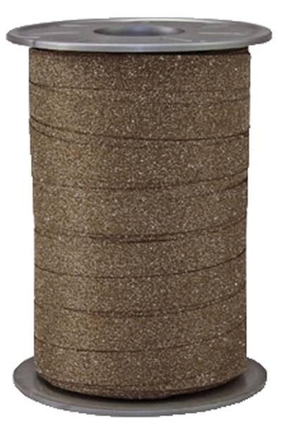 Ringelband 10 mm x 100 m, Glitter braun