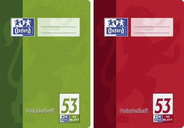 Vokabelheft LIN53 A5, 32 Blatt, liniert