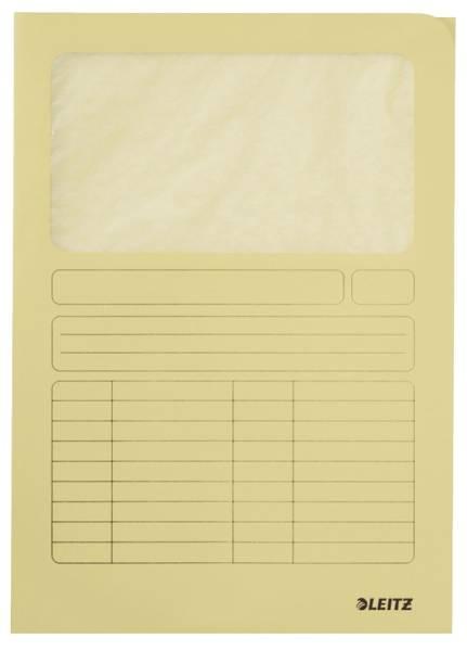 LEITZ Sichtmappe A4 gelb 3950-00-15 100ST