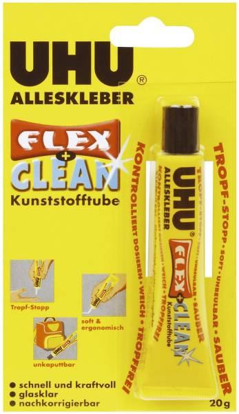 Der Alleskleber FLEX + CLEAN, Tube mit 20 g, Infokarte