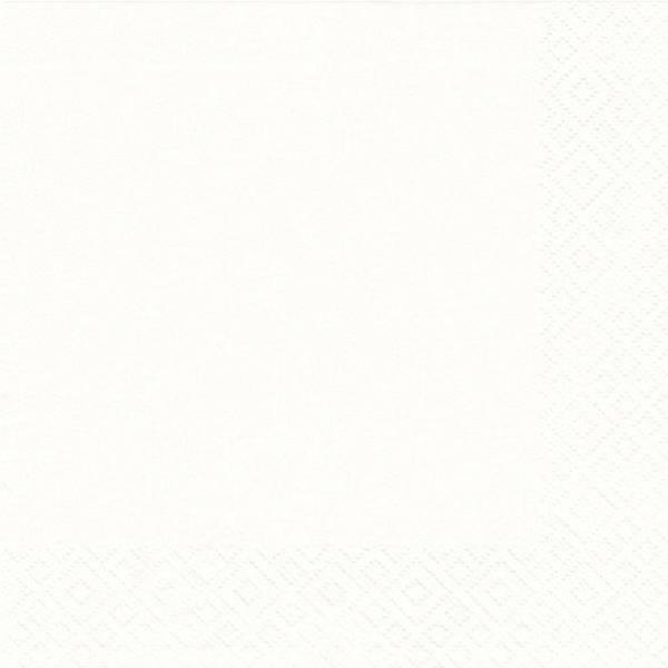 Serviette Zelltuch uni 33 x 33 cm weiß