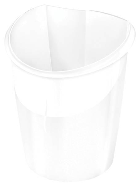 Papierkorb Ellypse weiß, 15 Liter