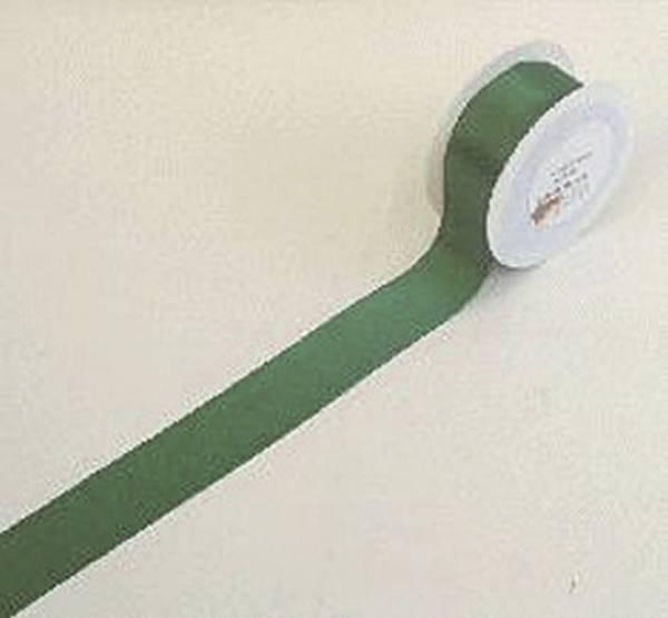 Doppelsatinband 40 mm x 25 m, dunkelgrün