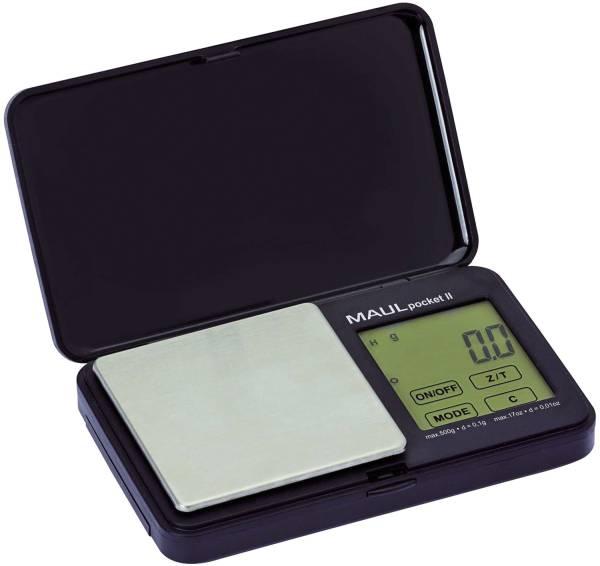 MAUL Taschenbriefwaage MAULpocket schwarz 16115 90 Batterie