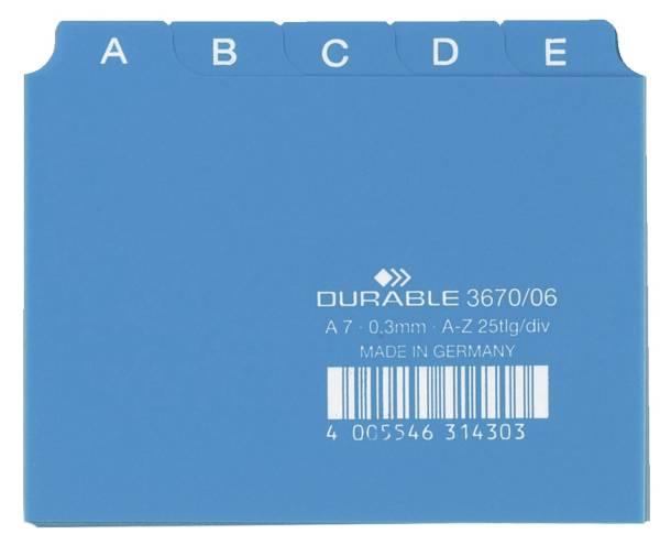 DURABLE Leitregister A7 blau 3670 06