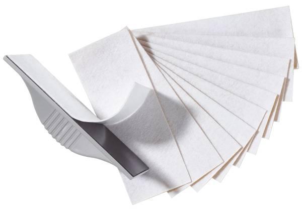Löscher für Schreibtafel, Magnettafel, 6 x 3 x 15 cm, Gehäusefarbe: grau