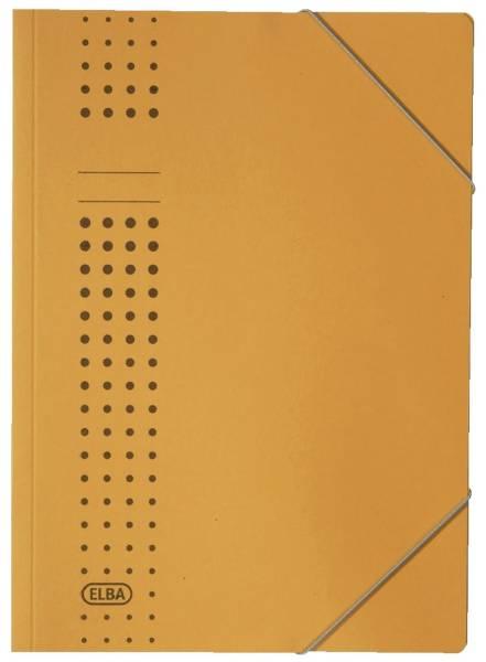 Eckspanner chic, Karton (RC), 320 g qm, A4, gelb