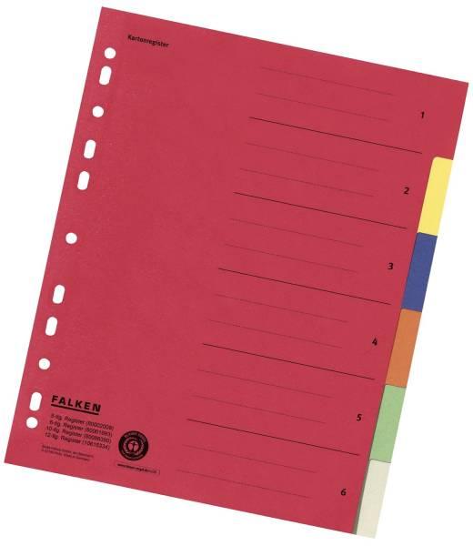 FALKEN Farbregister A4 6-tlg. 80001993 UWZ Karton