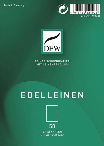 DFW Briefkarte A6 Edelleinen 50ST DRESDNER 820402