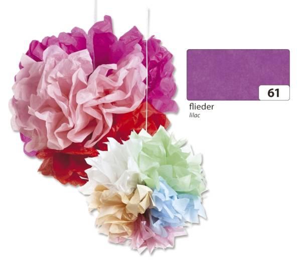 FOLIA Blumenseide 50x70cm flieder 91061 20g 5Bg
