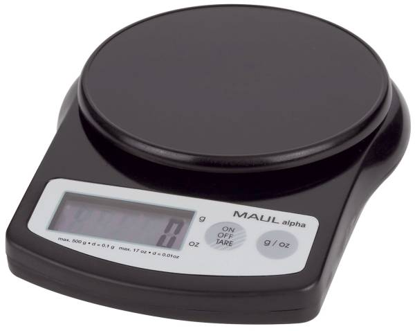 MAUL Briefwaage MAULalpha schwarz 16405 90 500g