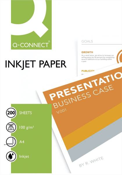 Inkjet Papiere Premium A4, 100 g qm, weiß, 200 Blatt