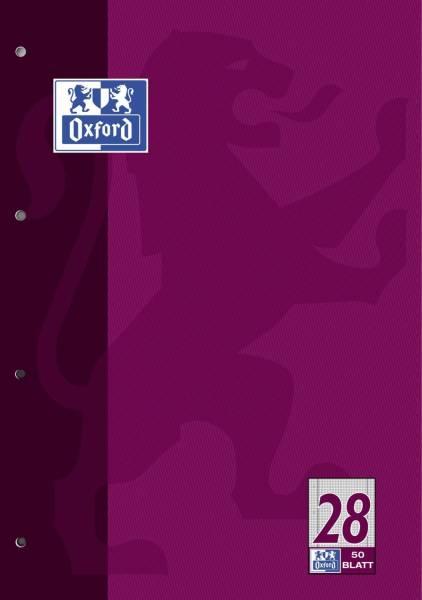 Schulblock Lin 28 A4, 50 Blatt, 90 g qm, 4 fach Lochung