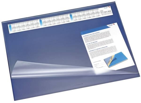 Schreibunterlage SYNTHOS 65 x 52 cm, blau, Vollsichtauflage