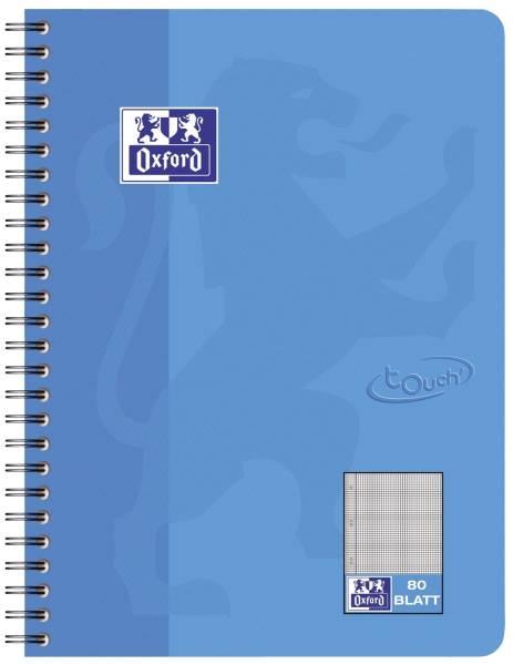Collegeblock Touch B5, 80 Blatt, 90 g qm, kariert, meerblau