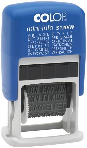 Mini Dater Wortbandstempel mit 12 Texten