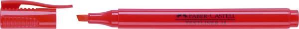 Textmarker 38 Stiftform rot