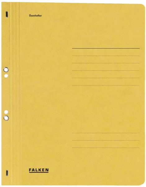 Ösenhefter A4 1 1 Vorderdeckel, gelb, Manilakarton, 250 g qm