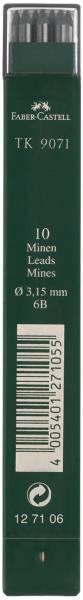 Fallmine TK für Fallminenstift 3,15 mm, Härtegrad 6B, tiefschwarz®