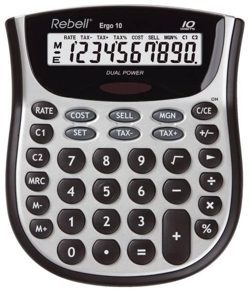 REBELL Tischrechner Ergo 10 130x153x35mm