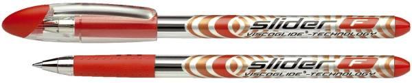 Kugelschreiber SLIDER mit Soft Grip Zone, F rot