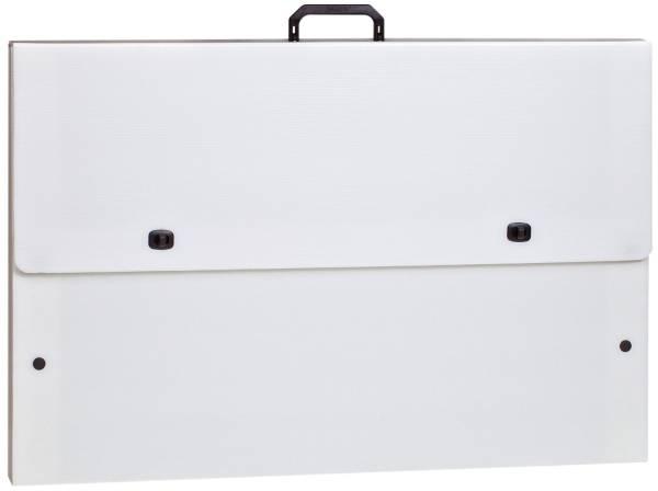 Stabiler Zeichenkoffer, weiß, A2
