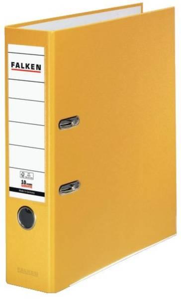 FALKEN Ordner S80 8cm gelb 9984048 PP-Color