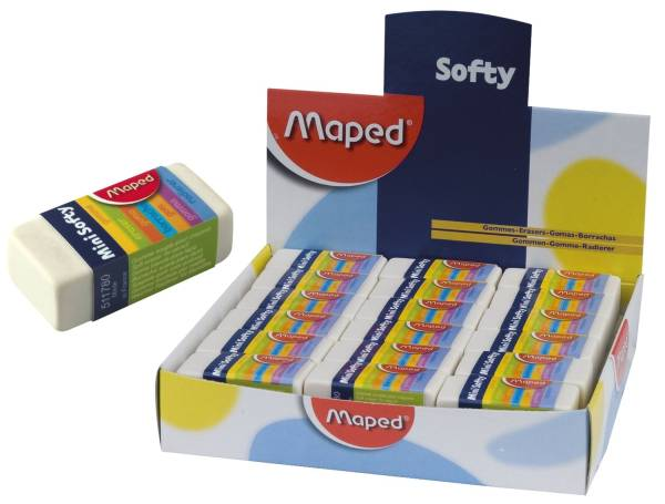 MAPED Radierer Kunststoff weiß M511780 Mini-Softy