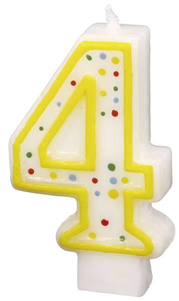 Geburtstagskerze Zahl 4