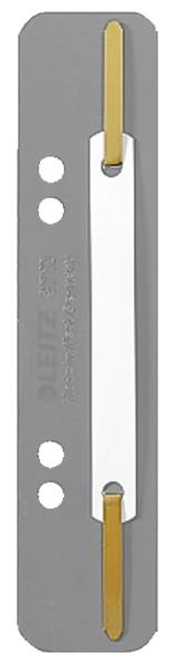 3710 Einhänge Heftstreifen PP, kurz grau, 25 Stück