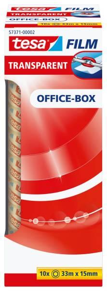 Klebefilm Office Box transparent 10 St , Bandgröße (L x B): 33 m x 15 mm