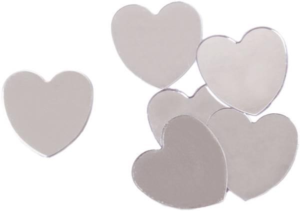Konfetti Herzen 10 g, silber