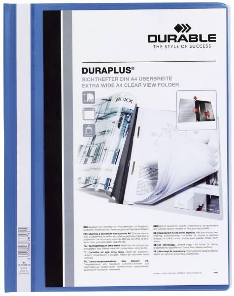 Angebotshefter DURAPLUS, strapazierfähige Folie, A4+, blau®