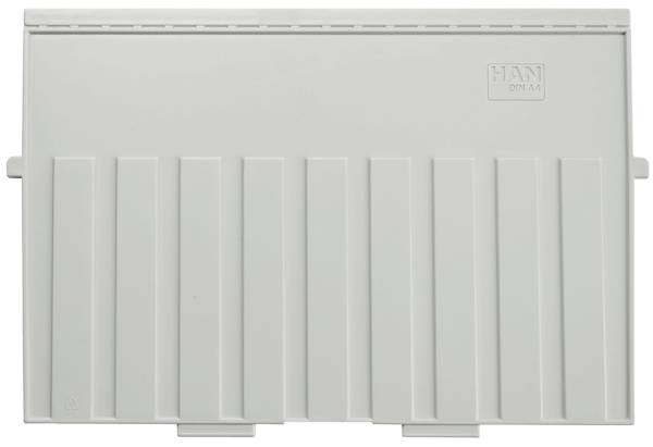 Stützplatte A4 quer, für Karteitröge und kästen, lichtgrau
