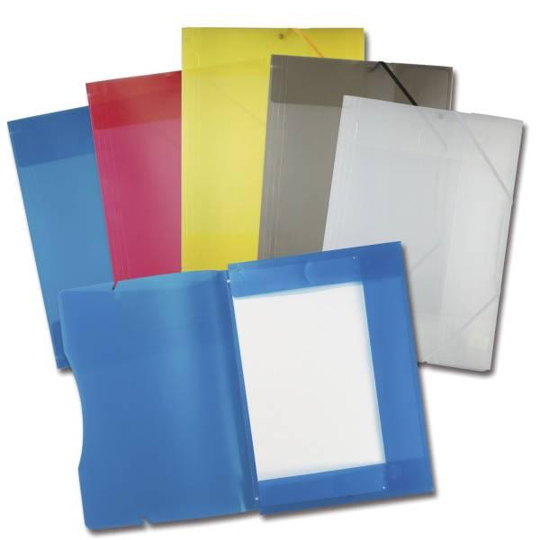 Sammelmappe mit Gummiband, DIN A3, transparent, 5 Farben