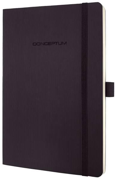Notizbuch ca A5, liniert, 194 Seiten, schwarz, Softcover®