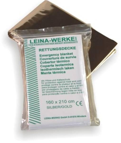 LEINA-WERKE Rettungsdecke 160x210cm silber 43000