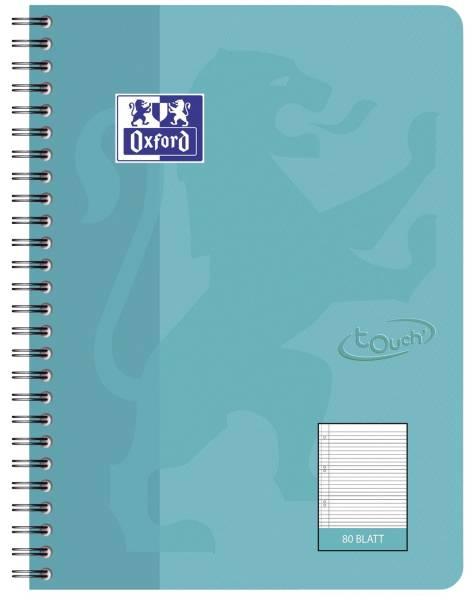 Collegeblock Touch B5, 80 Blatt, 90 g qm, liniert, aqua