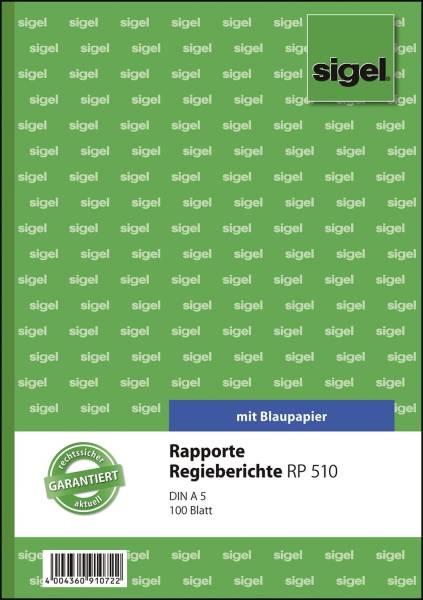 Rapporte Regieberichte A5, MP, 100 Blatt