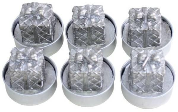 Weihn.Teelicht 6ST Paket silber 19015-3010-10