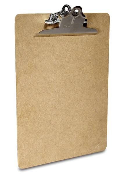 Klemmbrett Hartfaser Größe 230 x 318 mm