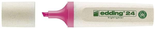 24 Textmarker Highlighter EcoLine nachfüllbar, rosa