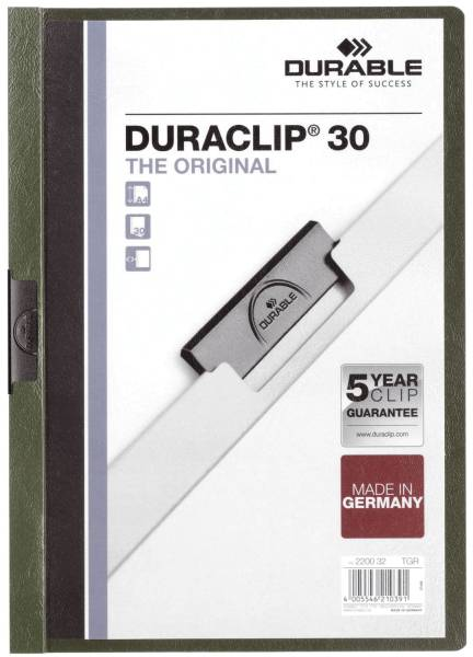 Klemm Mappe DURACLIP 30, DIN A4, petrol dunkelgrün®