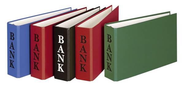 Bankordner BANK A6, 2 D Ring Mechanik 30 mm, farbig sortiert
