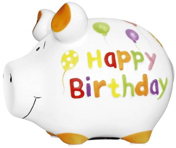 KCG Spardose Schwein klein 101187 Happy Birthday
