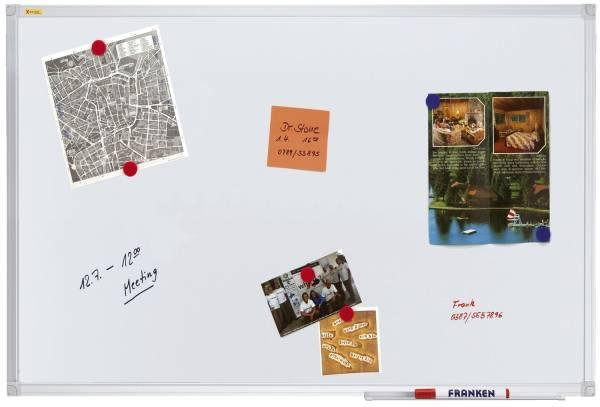 FRANKEN Schreibtafel 200x100cm weiß SC3104 X-tra!Line