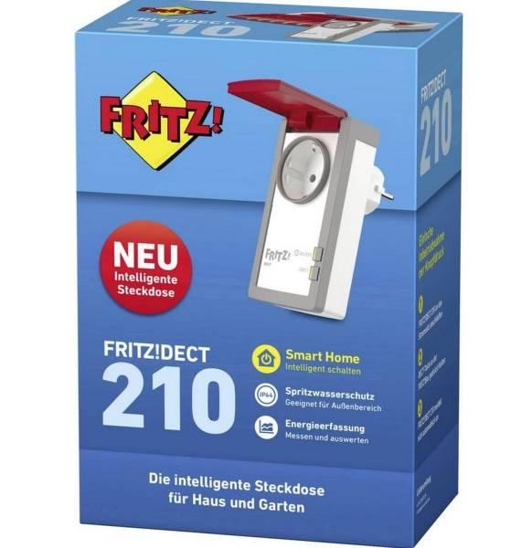 FRITZ Funk Schalt- und Messsteckdose grau/weiß 20002723 Dect 210 Außenbereich
