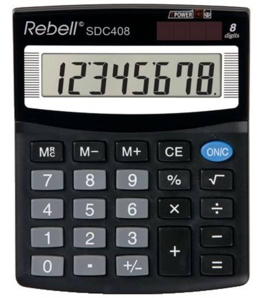 REBELL Tischrechner schwarz RE-SDC408 BX